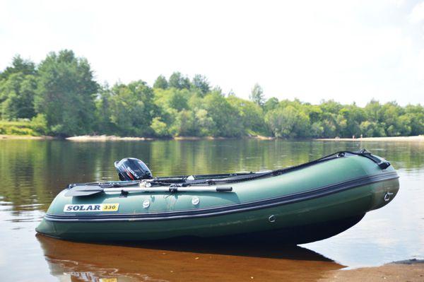 лодка надувная транц солар-350 зеленый
